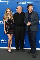 Amanda Seyfried, Ethan Hawke, Paul Schrader at the First Reformed photocall, 74th Venice Film Festival in Italy on 31 August 2017.<br /> <br /> Photo: Kristina Afanasyeva/Featureflash/SilverHub<br /> 0208 004 5359<br /> sales@silverhubmedia.com