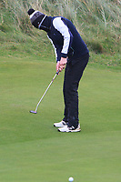 Pariac McGrath (Cregmore) on the 12th green during Round 2 of the Ulster Boys Championship at Portrush Golf Club, Portrush, Co. Antrim on the Valley course on Wednesday 31st Oct 2018.<br /> Picture:  Thos Caffrey / www.golffile.ie<br /> <br /> All photo usage must carry mandatory copyright credit (&copy; Golffile | Thos Caffrey)