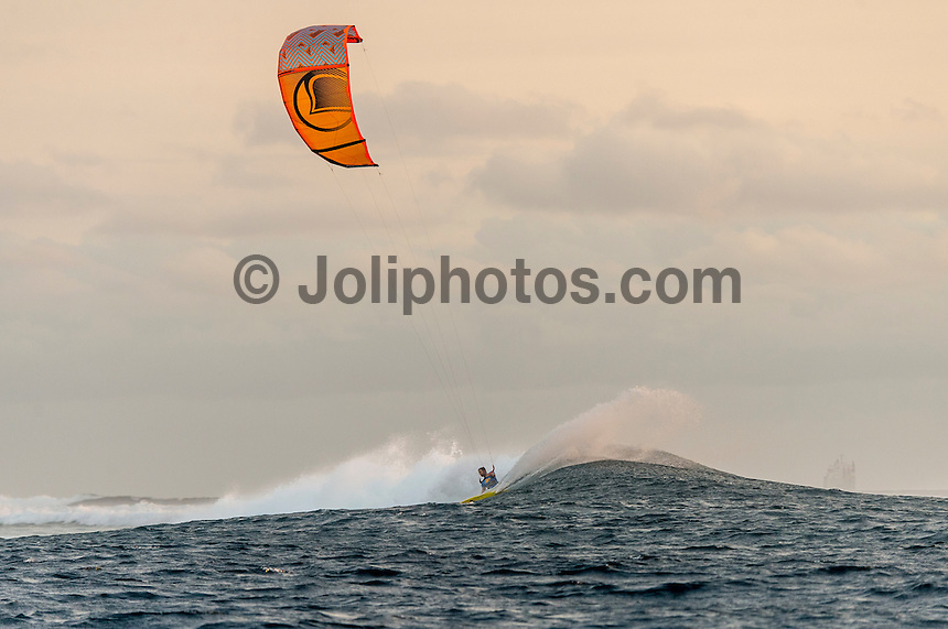 Namotu Island Resort , Fiji. (Friday November 13, 2015) Jason Slezak (USA) There were very light SE Trades this morning and the swell was a clean 2'-3'+. There were surfing sessions at Namotu Lefts, Swimming Pools and Wilkes in the morning.  There was a late afternoon kite session at Cloudbreak. Photo: joliphotos.com