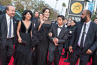 Director for  BEST FOREIGN LANGUAGE FILM NOMINEE, &ldquo;First They Killed My Father&rdquo; (CAMBODIA), Angelina Jolie arrives with with Loung Ung (L) and Pax Jolie-Pitt at the 75th Annual Golden Globe Awards at the Beverly Hilton in Beverly Hills, CA on Sunday, January 7, 2018.<br /> *Editorial Use Only*<br /> CAP/PLF/HFPA<br /> &copy;HFPA/PLF/Capital Pictures