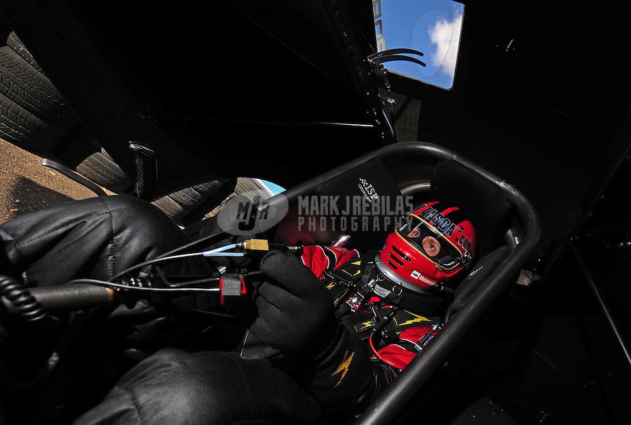 Jan 30, 2008; Chandler, AZ, USA; NHRA funny car driver Bob Tasca III during testing at the National Time Trials at Firebird International Raceway. Mandatory Credit: Mark J. Rebilas-US PRESSWIRE