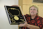 "Hebrew University of Jerusalem archaeologist Dr. Eilat Mazar announces the discovery of the ""Ophel Treasure"", thirty six gold coins, gold and silver jewelry, and a 10cm gold medallion with the Jewish symbols of a Menorah, a Shofar and a Torah Scroll etched into it. The treasure from the 7th century, Byzantine period was found at the foot of Temple Mount"