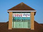 Tesco Extra clock tower, Martlesham, Suffolk, England