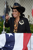 MIAMI, FL - OCTOBER 15: Frederica Wilson speaks as Democratic vice presidential nominee Tim Kaine attends a Voter Registration Event at Miami Dade College, Carrie P. Meek Entrepreneurial Education Center on October 15, 2016 in Miami Florida. Credit: mpi04/MediaPunch