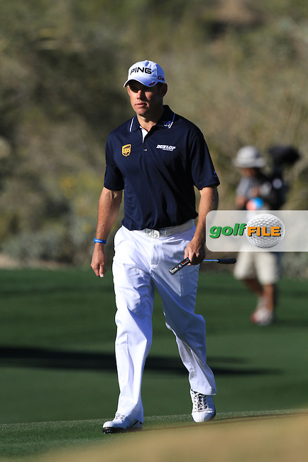 Lee Westwood (ENG) on the 9th fairway on day 5 Sunday semifinal at the WGC - Accenture Match Play Championship,Ritz-Carlton GC, Dove Mountain, Marana, Arisona, USA..22 Feb 2012 - 26 Feb 2012.Picture: Fran Caffrey www.golffile.ie