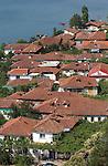 Lin-Pogradec-Albania - August 02, 2004---Partial view of the village of Lin at Lake Ohrid; region/village of project implementation by GTZ-Wiram-Albania (German Technical Cooperation, Deutsche Gesellschaft fuer Technische Zusammenarbeit (GTZ) GmbH)---Photo: © HorstWagner.eu