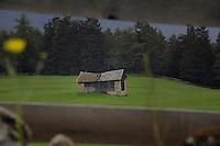Damaged farm building, Imst area, Tyrol, Austria.