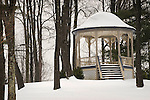 The gazebo in winter. Eagles Mere, PA.