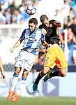 CD Leganes' Unai Lopez (l) and Valencia CF's Mario Suarez during La Liga match. September 25,2016. (ALTERPHOTOS/Acero)