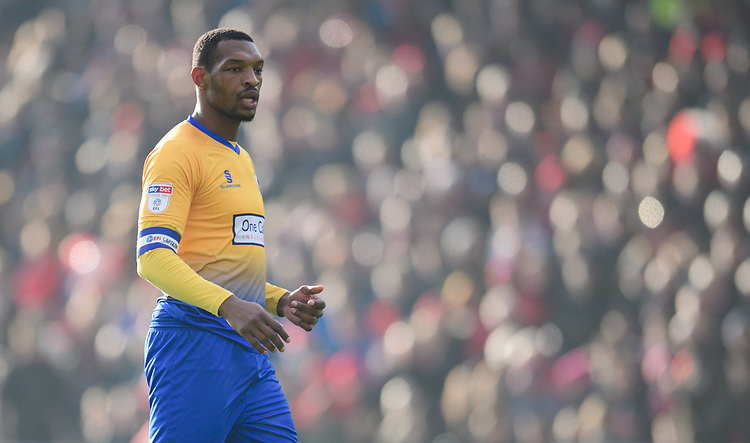 Mansfield Town's Krystian Pearce<br /> <br /> Photographer Chris Vaughan/CameraSport<br /> <br /> The EFL Sky Bet League Two - Lincoln City v Mansfield Town - Saturday 24th November 2018 - Sincil Bank - Lincoln<br /> <br /> World Copyright © 2018 CameraSport. All rights reserved. 43 Linden Ave. Countesthorpe. Leicester. England. LE8 5PG - Tel: +44 (0) 116 277 4147 - admin@camerasport.com - www.camerasport.com