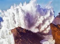 Large crashing wave at Shore Acres Stste Park, Oregon