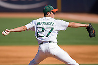 Starting pitcher Chris Hernandez #27 of the Miami Hurricanes in action versus the Florida State Seminoles at Durham Bulls Athletic Park May 21, 2009 in Durham, North Carolina.  (Photo by Brian Westerholt / Four Seam Images)