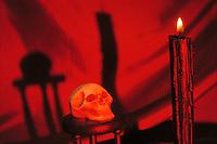 Foto simbolica sul Satanismo. Symbolic picture about Satanism....