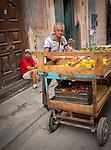 Havana, Cuba: Produce vendor, market, Old Havana