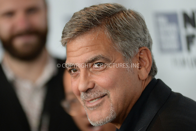 WWW.ACEPIXS.COM<br /> September 28, 2015 New York City<br /> <br /> George Clooney attending the 53rd New York Film Festival 'O Brother, Where Art Thou?' 15th anniversary screening at Alice Tully Hall on September 29, 2015 in New York City.<br /> <br /> Credit: Kristin Callahan/ACE<br /> <br /> Tel: (646) 769 0430<br /> e-mail: info@acepixs.com<br /> web: http://www.acepixs.com