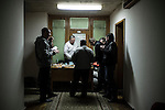 Kiev, Ukraine - 03 december 2013: Protesters eating in a corridor of the occupied building of the Workers Trade Unions. Credit: Niels Ackermann / Rezo.ch