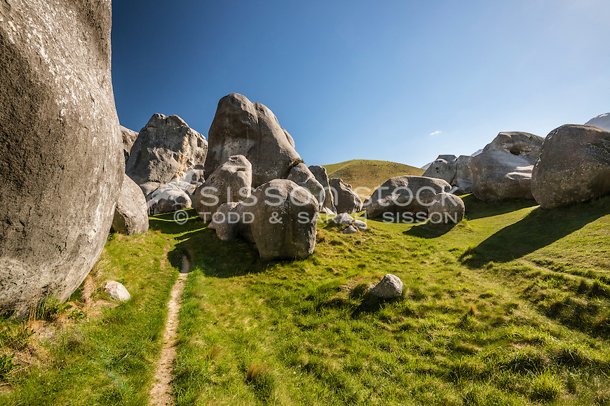 Castle Hill Rocks, Canterbury, New Zealand - stock photo, canvas, fine art print