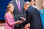 Princess of Asturias Leonor gives medal of Princess of Asturias Awards to El Prado National Museum  in Oviedo. October 18, 2019 (Alterphotos/ Francis Gonzalez)