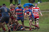 Counties Manukau Rugby Union Premier Reserve final between Karaka and Ardmore Marist played at ECOLight Stadium 2 on Saturday July 23rd 2016. Karaka won the game 41 - 12.<br /> Photo by Richard Spranger.