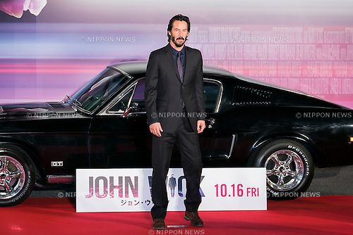 Canadian actor Keanu Reeves poses for the cameras during a photo-call for the movie John Wick on September 30, 2015, Tokyo, Japan. The movie will be released in Japanese theatres on October 16. (Photo by Rodrigo Reyes Marin/AFLO)