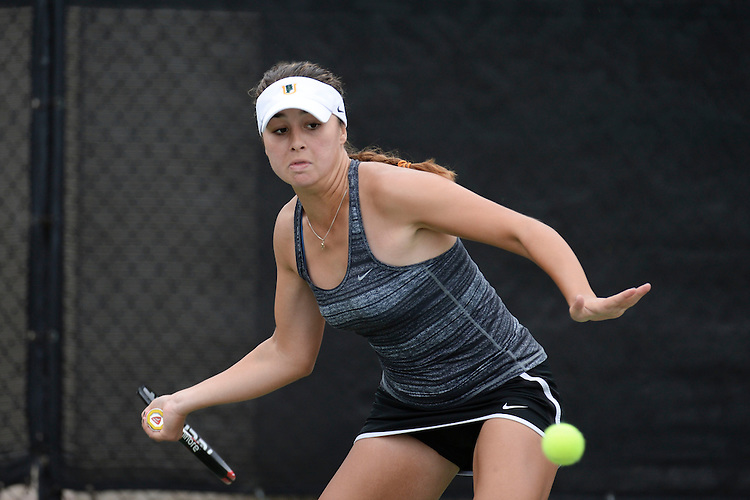 April 24, 2013; San Diego, CA, USA; San Francisco Dons player Marina Nikolic during the WCC Tennis Championships at Barnes Tennis Center.