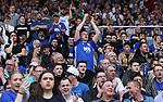 Birmingham fans shout during the championship match at St Andrews Stadium, Birmingham. Picture date 21st April 2018. Picture credit should read: Simon Bellis/Sportimage