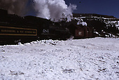 C&amp;TS rotary snowplow and #484 on Cumbres Pass.<br /> C&amp;TS  Cumbres Pass, CO