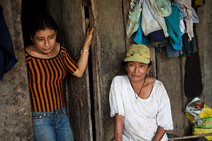 Carmen Chomba, 54, and her daughter Maria, 21 recall the numerous health problems they've suffered since living meters away from Shushufindi 27.