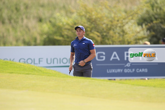 Paul Dunne (IRL)  on the 4th during Round 4 of Made in Denmark at Himmerland Golf &amp; Spa Resort, Farso, Denmark. 27/08/2017<br /> Picture: Golffile | Thos Caffrey<br /> <br /> All photo usage must carry mandatory copyright credit     (&copy; Golffile | Thos Caffrey)