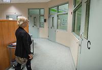 NWA Democrat-Gazette/ANTHONY REYES &bull; @NWATONYR<br /> Jeannie Mack, Washington County Juvenile Detention Center administrator, walks through the main corridor Tuesday, Dec. 1, 2015 at the center in Fayetteville.