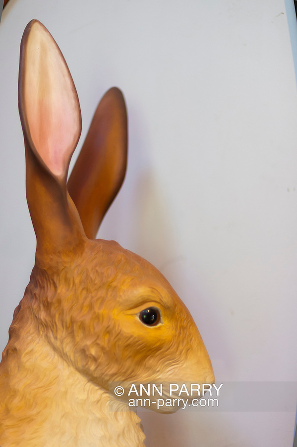 Rabbit hand carved by Bob Yorburg, 2012