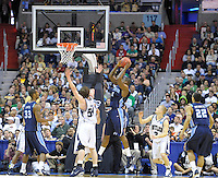 Frank Hassell of the Monarchs gets the offensive rebound. Butler defeated Old Dominion 60-58 during the NCAA tournament at the Verizon Center in Washington, D.C. on Thursday, March 17, 2011. Alan P. Santos/DC Sports Box