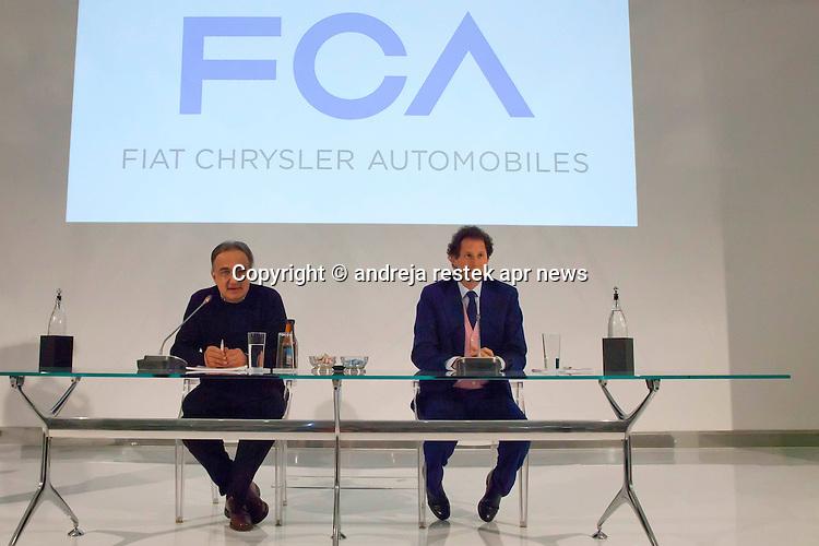 Fiat; FCA; elkann john; sergio marchionne; ph © Andreja Restek / APR NEWS