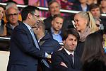 UEFA Women's Champions League 2017/2018.<br /> Quarter Finals.<br /> FC Barcelona vs Olympique Lyonnais: 0-1.<br /> Josep Maria Bartomeu &amp; Line Roddik.