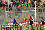 Stephen O'Brien Kerry has a shot on goal against Mayo blocked by David Clarke in the All Ireland Semi Final Replay in Croke Park on Saturday.