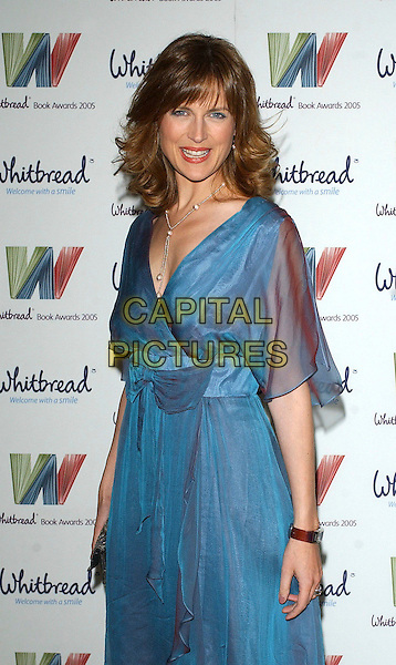 KATIE DERHAM.The Whitbread Book Of The Year Awards 2005, The Brewery, Chiswell Street, London, UK..January 24th, 2006.Ref: BEL.half length blue dress.www.capitalpictures.com.sales@capitalpictures.com.© Capital Pictures.