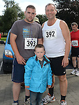 Frank, Aaron and Hayden Lynch who took part in the Turfman 10K run in Ardee. Photo:Colin Bell/pressphotos.ie