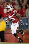 Wisconsin Badgers wide receiver David Gilreath (85) returns a kick during an NCAA college football game against the Ohio State Buckeyes on October 16, 2010 at Camp Randall Stadium in Madison, Wisconsin. The Badgers beat the Buckeyes 31-18. (Photo by David Stluka)