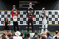 Race 2, Platinum Masters Podium, #68 Topp Racing, Porsche 991 / 2017, GT3P: Jeff Mosing (M), #45 Wright Motorsports, Porsche 991 / 2017, GT3P: Charlie Luck (M), #36 TPC Racing, Porsche 991 / 2017, GT3P: Vernon McClure (M)
