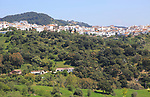 Hill top village of Cascares, Malaga province, southern Spain
