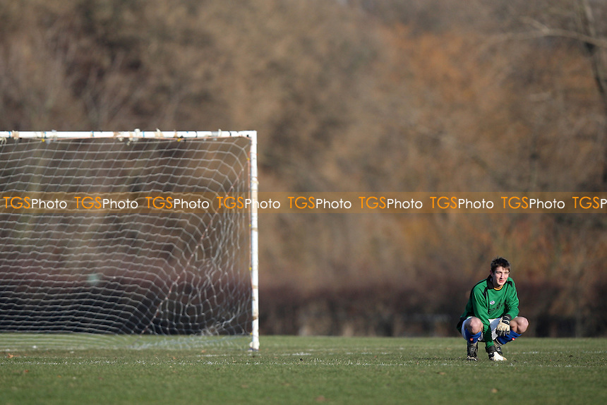 A Sunday morning goalkeeper is seen at Hackney Marshes - 11/01/09 - MANDATORY CREDIT: Gavin Ellis/TGSPHOTO - Self billing applies where appropriate - Tel: 0845 094 6026