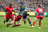 Bath Rugby's Semesa Rokoduguni in action during todays match<br /> <br /> Photographer Bob Bradford/CameraSport<br /> <br /> Aviva Premiership - Bath Rugby v Worcester Warriors - Saturday 7th October 2017 - The Recreation Ground - Bath<br /> <br /> World Copyright &copy; 2017 CameraSport. All rights reserved. 43 Linden Ave. Countesthorpe. Leicester. England. LE8 5PG - Tel: +44 (0) 116 277 4147 - admin@camerasport.com - www.camerasport.com