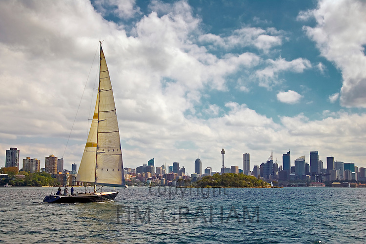 Yacht Sailing in Sydney Harbour, Australia   TIM GRAHAM