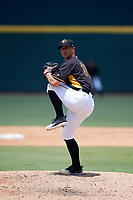 Bradenton Marauders relief pitcher Jess Amedee (31) delivers a pitch during a game against the Charlotte Stone Crabs on June 3, 2018 at LECOM Park in Bradenton, Florida.  Charlotte defeated Bradenton 10-1.  (Mike Janes/Four Seam Images)