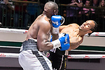 Wadi Camacho vs Ossie Jervier Southern Area title fight 10x3 - Cruiserweight Contest During Goodwin Boxing - Date With Destiny. Photo by: Simon Downing.<br /> <br /> Saturday September 23rd 2017 - York Hall, Bethnal Green, London, United Kingdom.