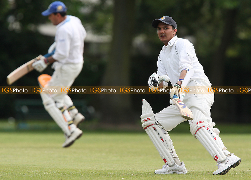 Yasar (R) and Iqbal make runs for Asian - Hornchurch Athletic CC vs Asian CC - Lords International Cricket League - 13/06/09 - MANDATORY CREDIT: Gavin Ellis/TGSPHOTO - Self billing applies where appropriate - 0845 094 6026 - contact@tgsphoto.co.uk - NO UNPAID USE.