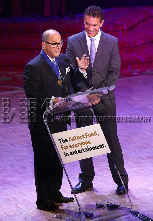 Brian Stokes Mitchell; Steve Kalafer  during the presentation of the 2013 Actors Fund Annual Gala honoring Robert De Niro at the Mariott Marquis Hotel in New York on 4/29/2013...