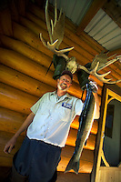 Wells Gray Provincial Park, British Columbia, Canada, August 2006. Dinner time at the Rangers Cabin of Murtle lak, which is a great canoeing and fishing destination. Trekking the backcountry of Wells Gray requires expert outdoor skills or a good guide, as one will enter a wilderness area with mountains, lakes and forests. Photo by Frits Meyst/Adventure4ever.com