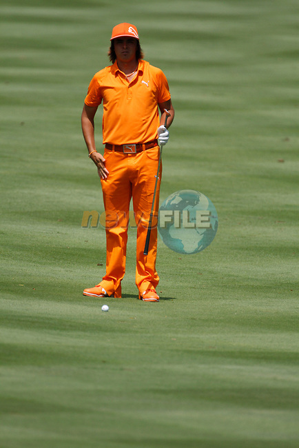 Rickie Fowler (USA) on the 1st on the final day of the World Golf Championship Bridgestone Invitational, from Firestone Country Club, Akron, Ohio. 7/8/11.Picture Fran Caffrey www.golffile.ie