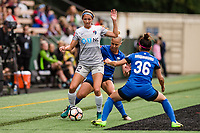 Seattle, WA - Sunday, August 13, 2017: Ashley Hatch during a regular season National Women's Soccer League (NWSL) match between the Seattle Reign FC and the North Carolina Courage at Memorial Stadium.